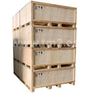 Caja sin madera aserrada